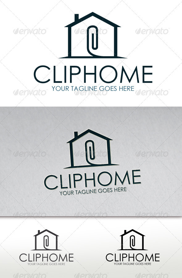 GraphicRiver Clip Home Logo 2690184. Illustrator  Logo Template  Buildings