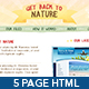 Get Back To Nature – Full Site – HTML and PSD