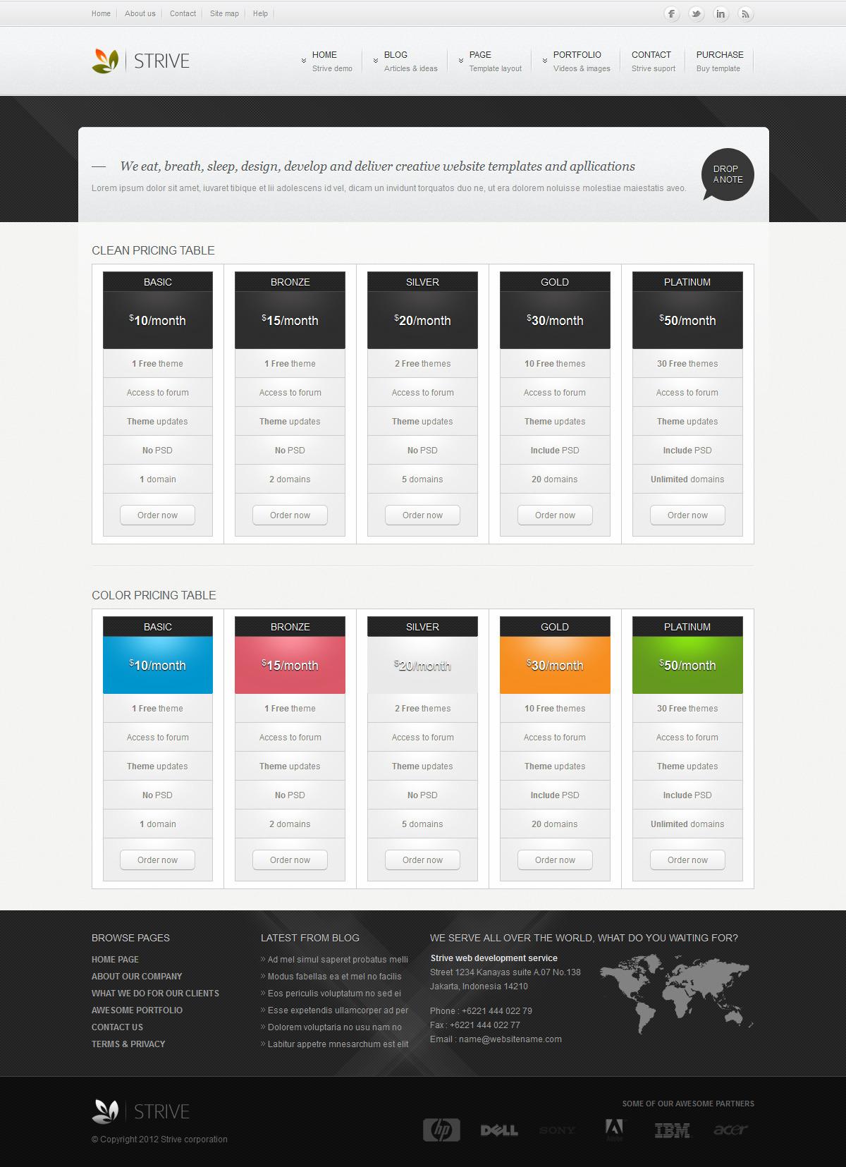 Strive modern corporate HTML CSS Template