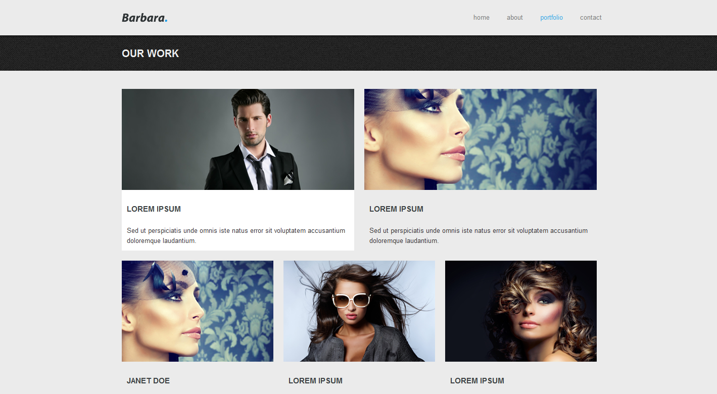 Barbara - HTML and CSS Template