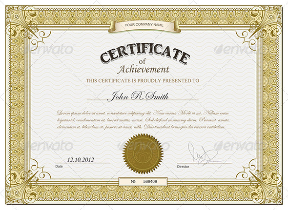 GraphicRiver Gold certificate 2691944