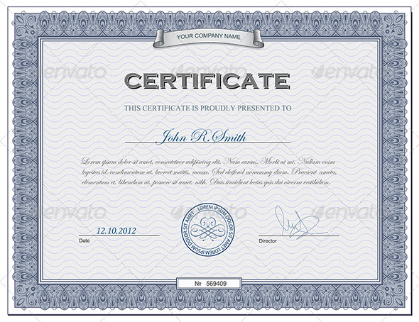 GraphicRiver Detailed certificate 2691992