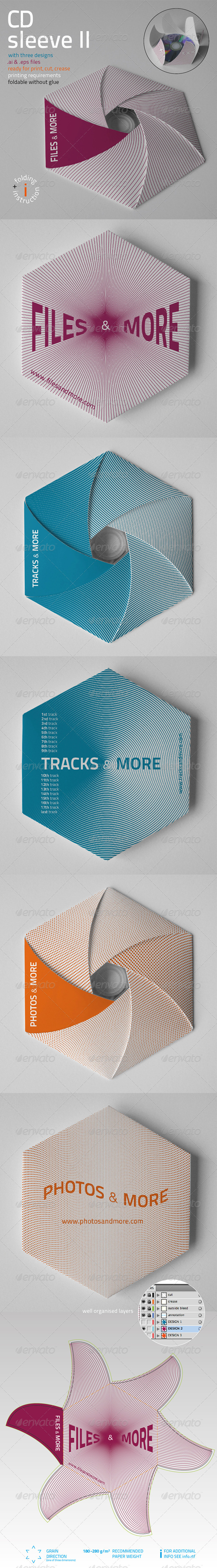 CD Sleeve v2 - Packaging Print Templates