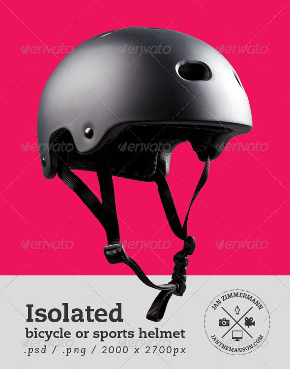 Isolated Bicycle or Sports Helmet