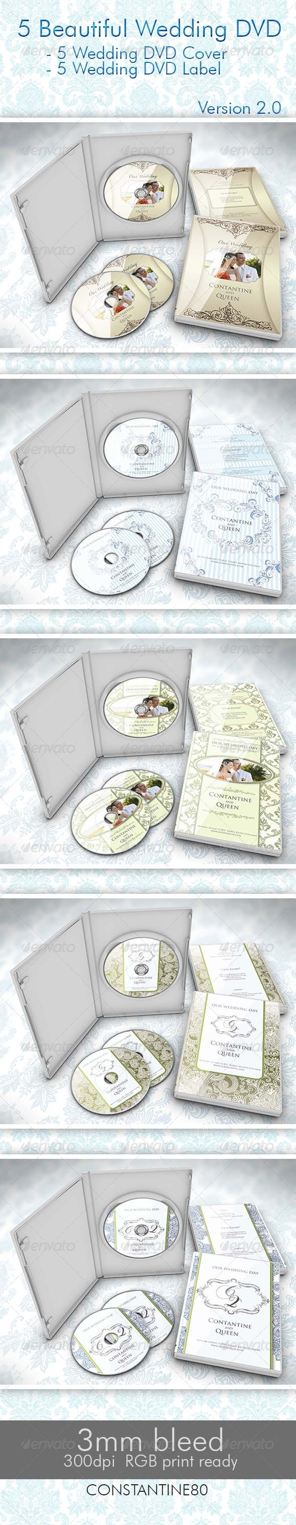 GraphicRiver 5 Beautiful Wedding DVD Ver 2.0 2693366