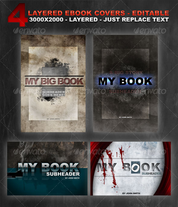 4 layered eBook covers