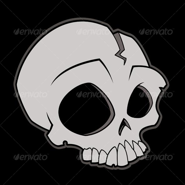 Cartoon Skull - Characters Vectors