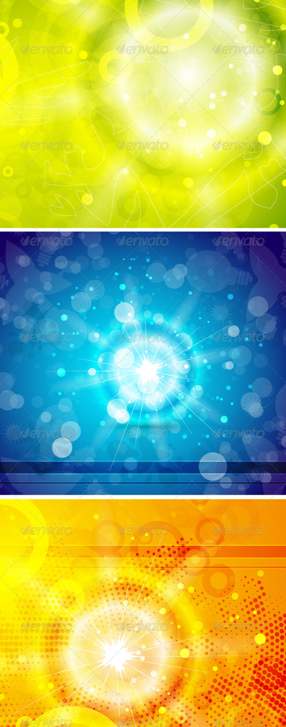 Shiny Sun Vector Backgrounds - Backgrounds Decorative