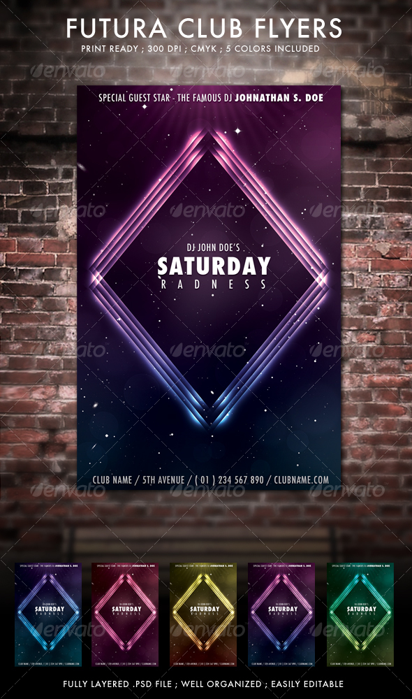 Futura Club Flyers - Clubs & Parties Events