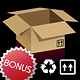 Cardboard Boxes + Bonus Icons - GraphicRiver Item for Sale