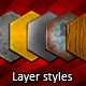 Various materials layer styles - GraphicRiver Item for Sale