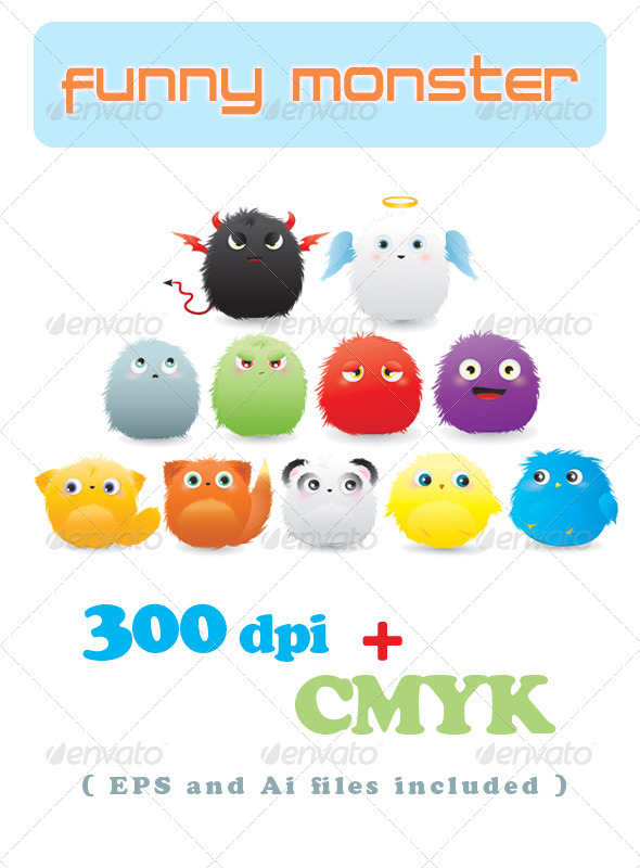 GraphicRiver Funny Monster 298098
