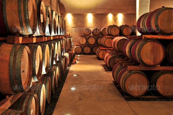 PhotoDune Wine Barrels 185149