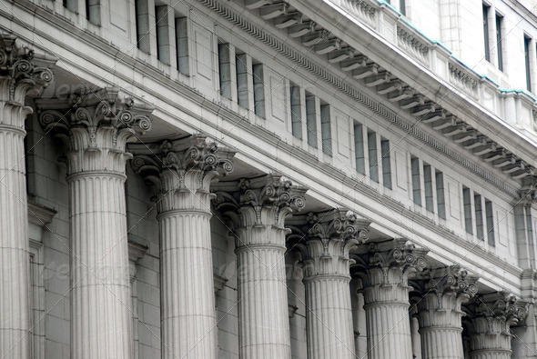 Building With Columns - Stock Photo - Images
