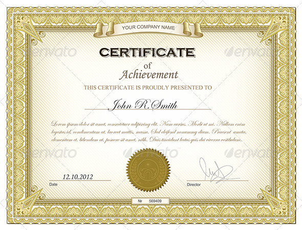 GraphicRiver Gold certificate 2691997