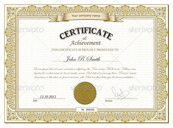 GraphicRiver Gold detailed certificate 2691881