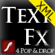 Text Slide Animation XML (4 Pop & Drop Styles) - ActiveDen Item for Sale