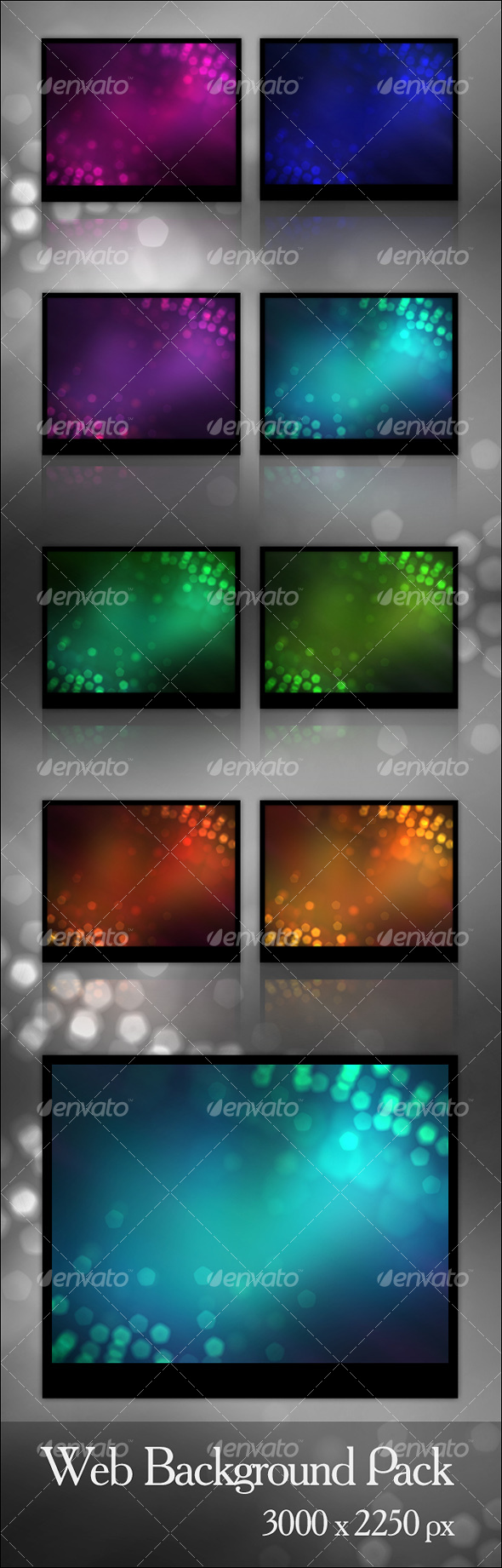 8 Bokeh Effect Backgrounds - Backgrounds Graphics
