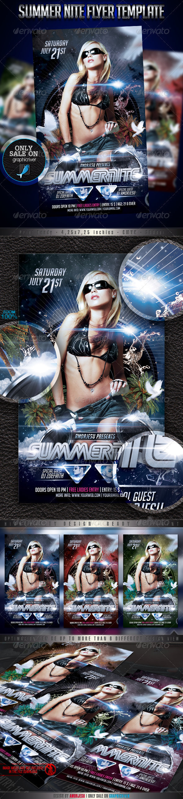 Summer Nite Flyer Template - Events Flyers