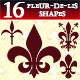 16 Photoshop Fleur-de-lis Shapes - GraphicRiver Item for Sale