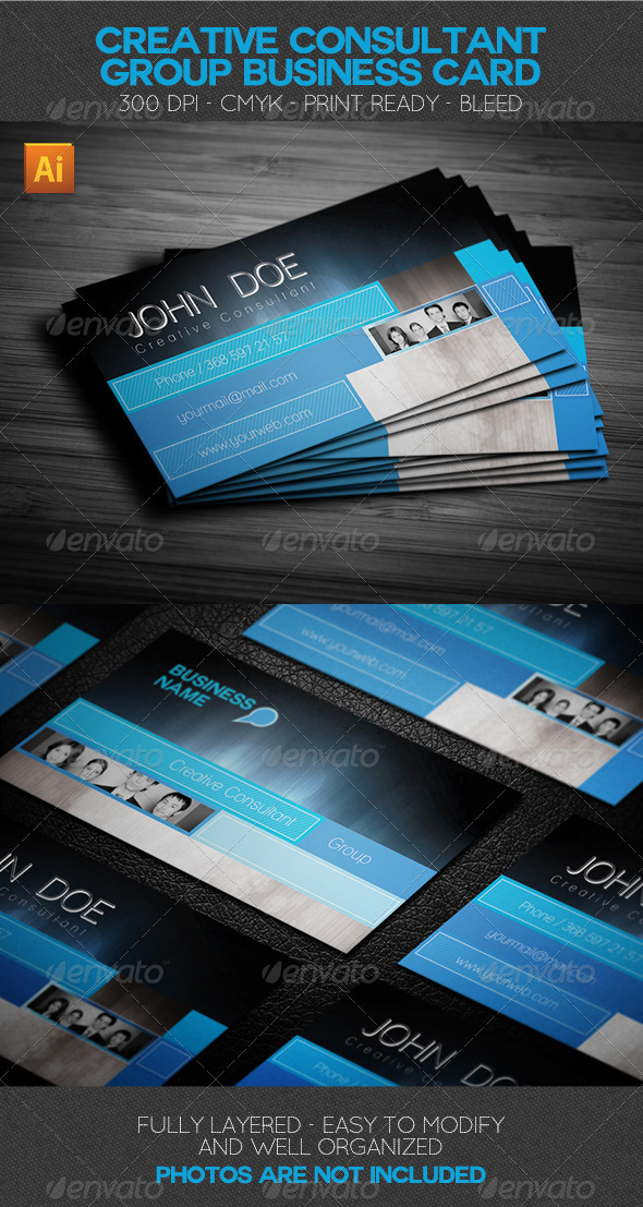 Creative Consultant Group Business Card - Corporate Business Cards