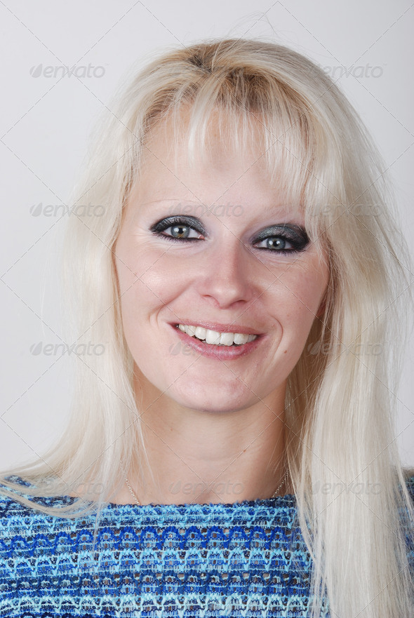 Portrait of a young woman - Stock Photo - Images