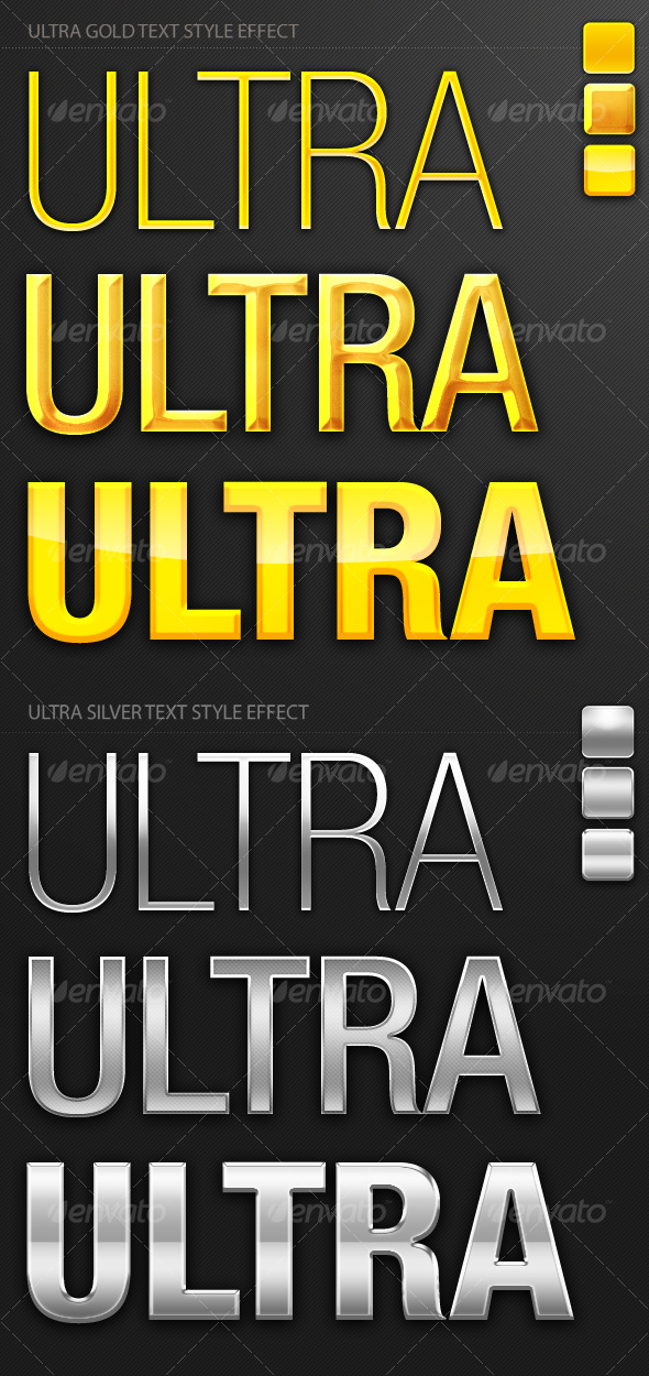 GraphicRiver Ultra Gold and Silver Text Style Effect 97683