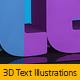 3D Text Illustrations - GraphicRiver Item for Sale
