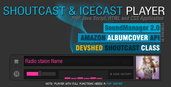 CodeCanyon PHP-Javascript Shoutcast and Icecast 2604835