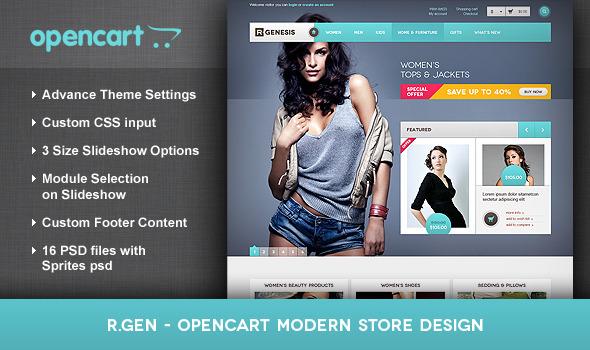 ThemeForest R.Gen OpenCart Modern Store Design 2699592