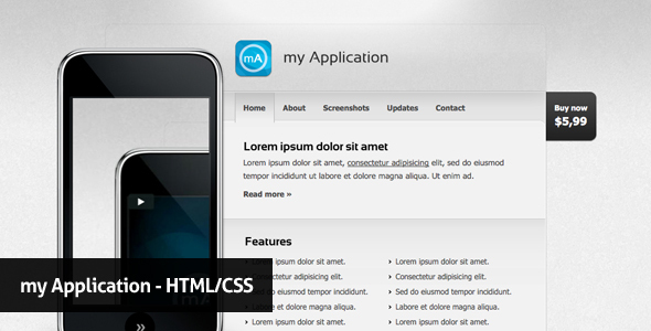 my Application - Technology Site Templates