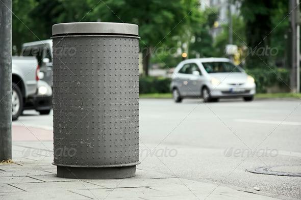 street bin - Stock Photo - Images