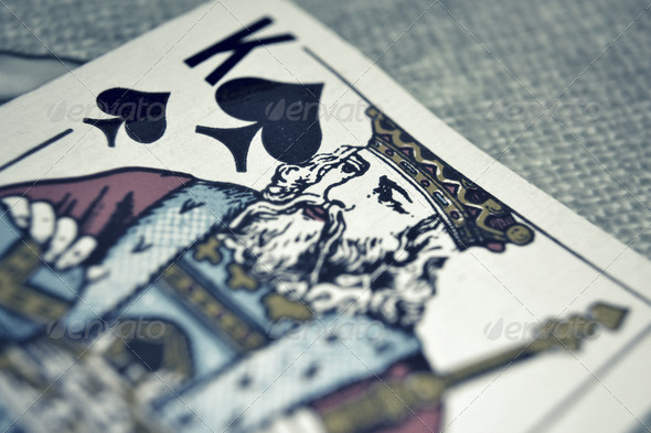 King - Game Card - Stock Photo - Images