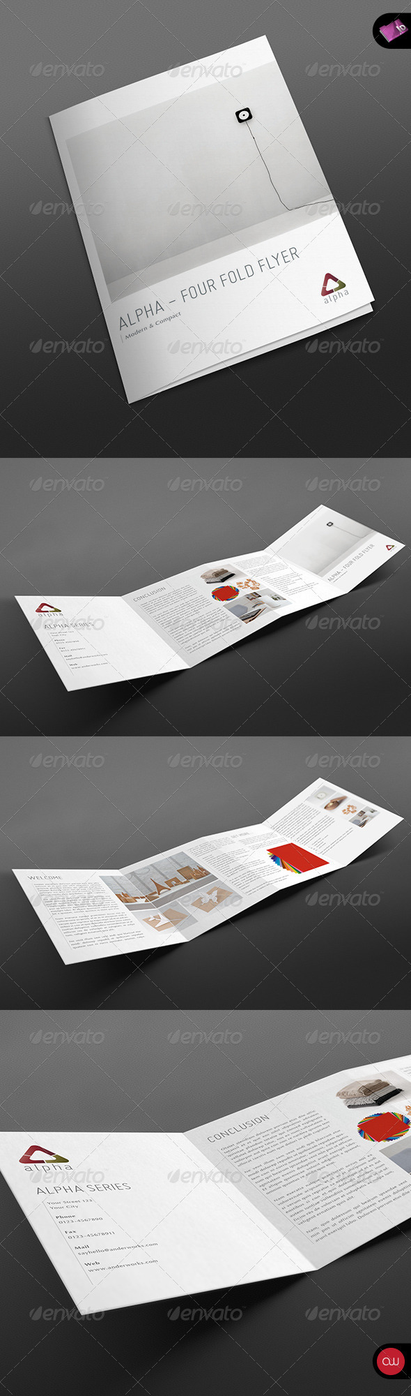4-fold Brochure Template - Vol.2 - Corporate Flyers