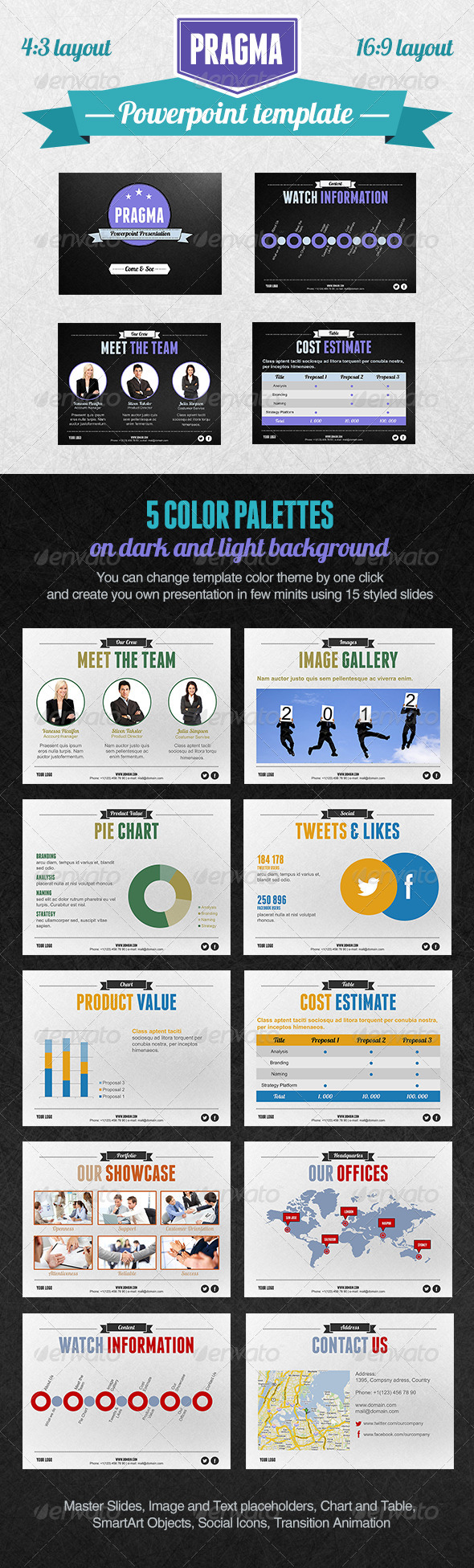 Pragma PowerPoint Presentation Template - Powerpoint Templates Presentation Templates
