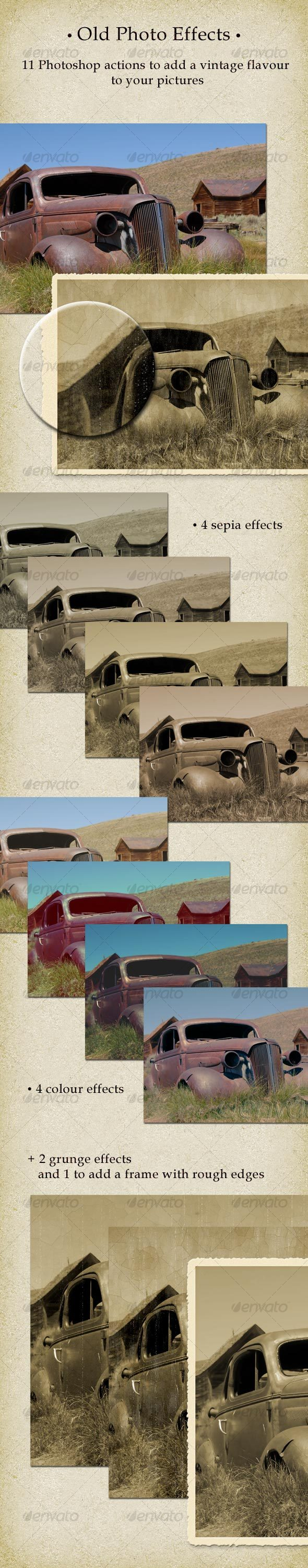 GraphicRiver 11 Old Photo Effects Actions 97775