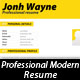 Professional Modern Resume - GraphicRiver Item for Sale