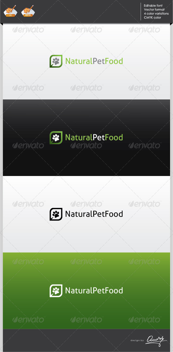 GraphicRiver Natural pet food logo template 2702262