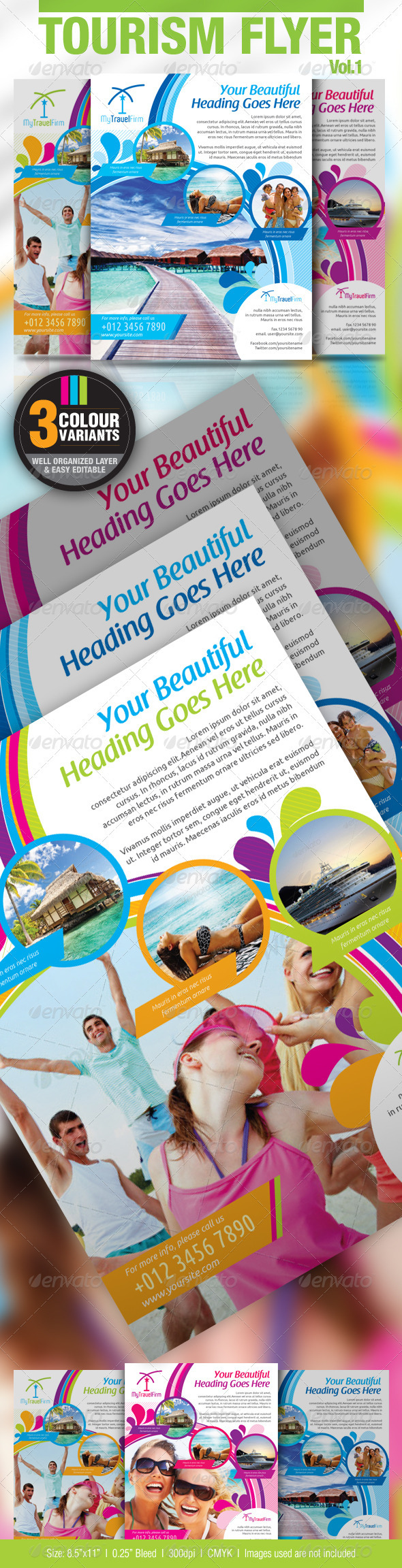 GraphicRiver Tourism Flyer Vol.1 2641492