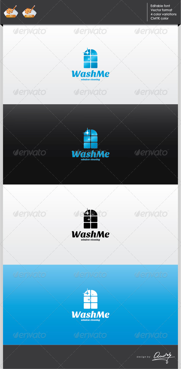 GraphicRiver Wash me logo template 2702320