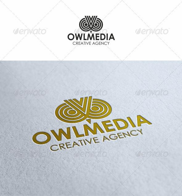 Owl Media Logo - Symbols Logo Templates
