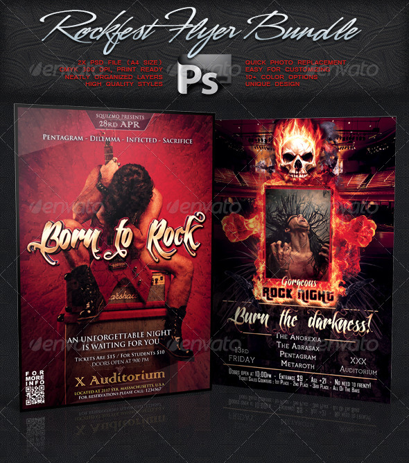 Rockfest Flyer Bundle Vol.3 - Concerts Events