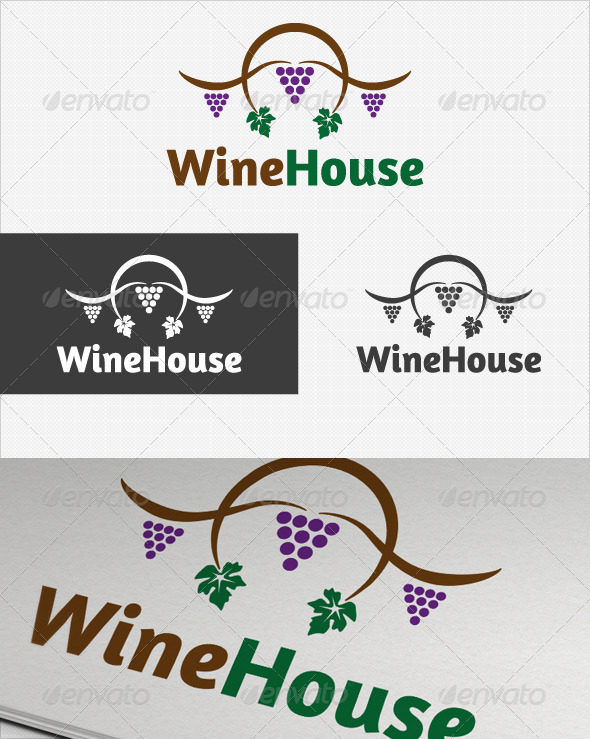 GraphicRiver Wine House logo 2650794