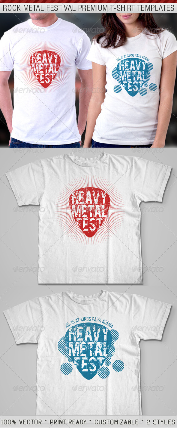 Rock Metal Festival Premium T-Shirt Template - Events T-Shirts