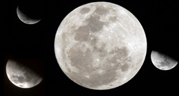 Half Moon Cloudy Night               (Stock Footage)