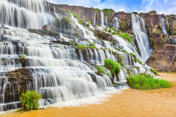 Pongour waterfall - Stock Photo - Images