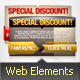 Web Elements - Banners Vector Graphics 2 PSD file - GraphicRiver Item for Sale