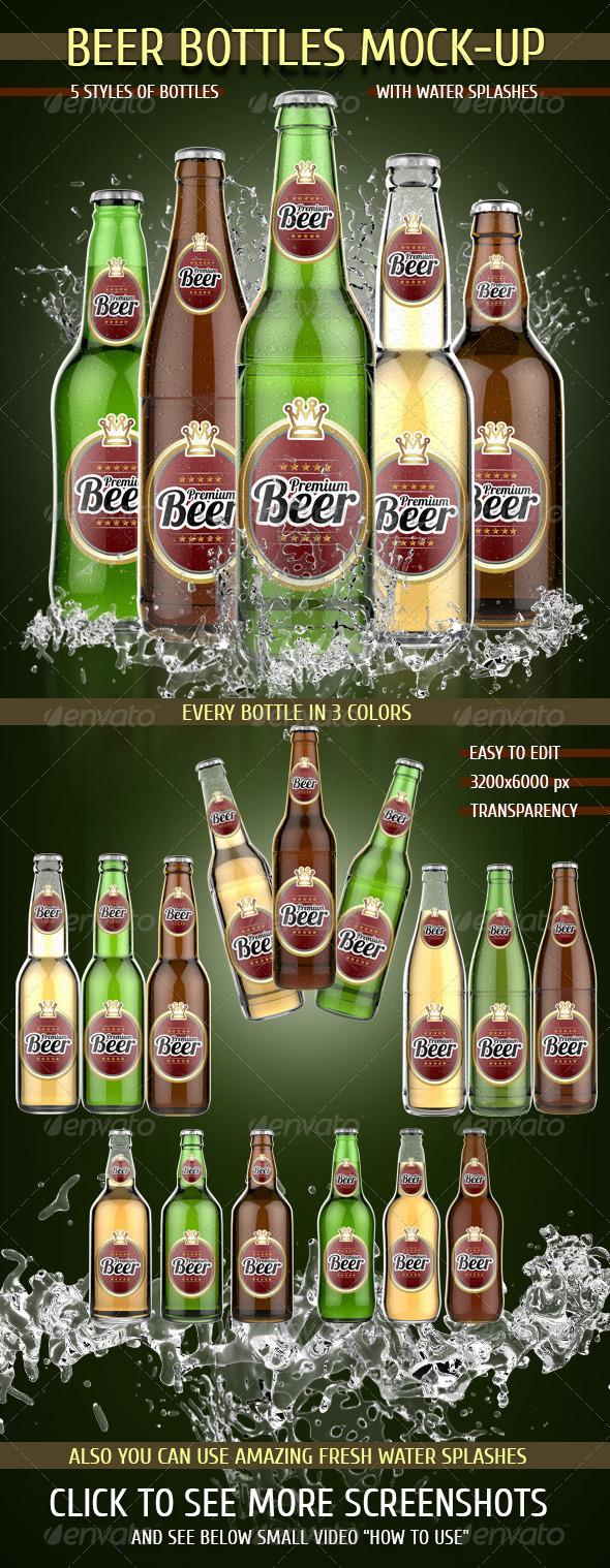GraphicRiver Beer Bottles Mock-Up 2703912