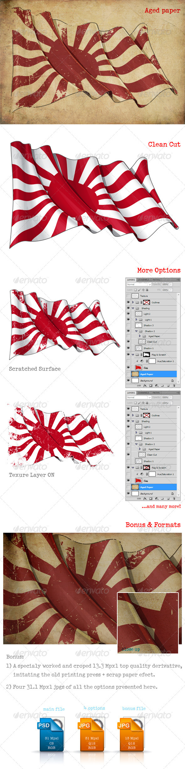 Japan's Imperial Navy Flag  - Backgrounds Graphics