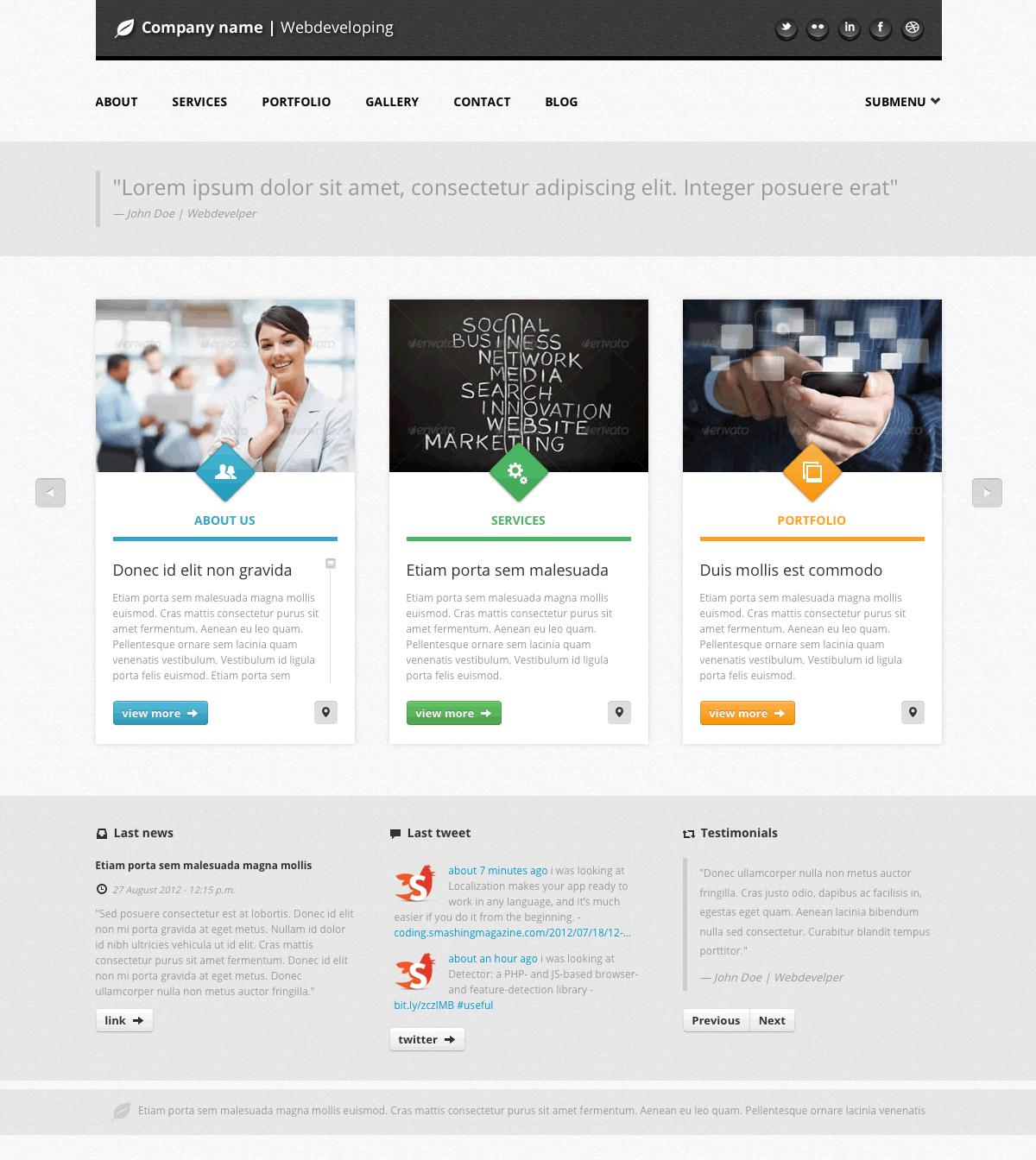 Castore - Multipurpose Single Page HTML Theme